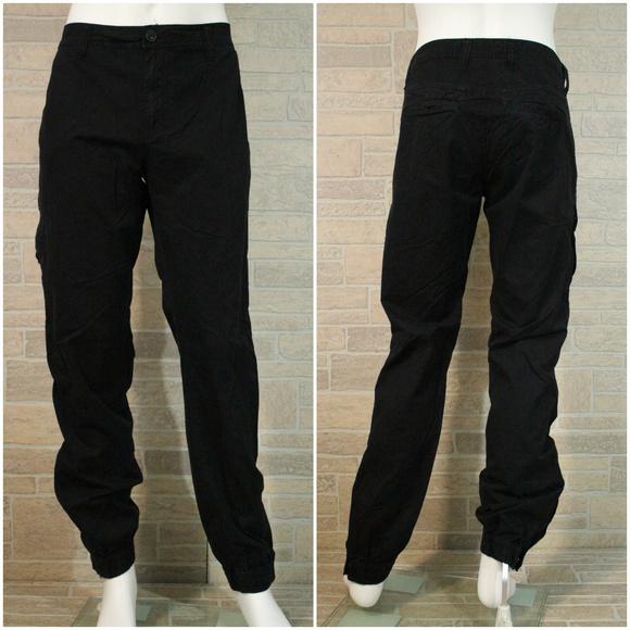 63d06505b9cd PJ Mark Slim Fit Black Jogger Cargo Pants Jeans 34.  M 5c40269f45c8b36be1fc42f7